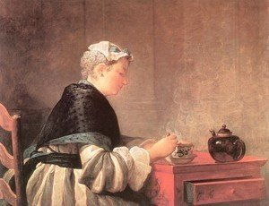 Jean-Baptiste-Simeon Chardin - Lady Taking Tea