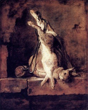 Jean-Baptiste-Simeon Chardin - Rabbit With Game Bag And Powder Flask