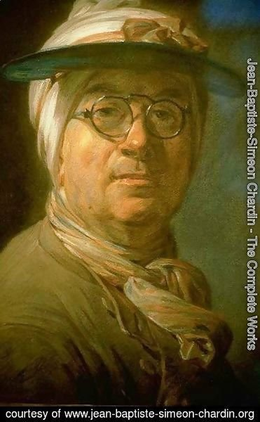 Jean-Baptiste-Simeon Chardin - Self-Portrait with Eyeshade 1775