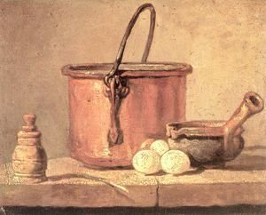 Jean-Baptiste-Simeon Chardin - Still Life With Copper Cauldron And Eggs