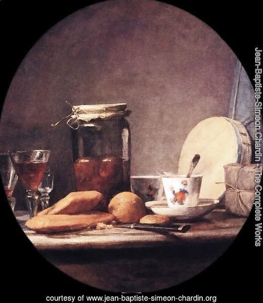 Still Life With Jar Of Apricots