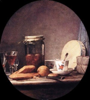 Jean-Baptiste-Simeon Chardin - Still Life With Jar Of Apricots