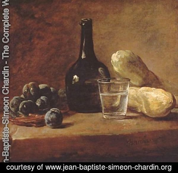 Jean-Baptiste-Simeon Chardin - Still Life With Plums