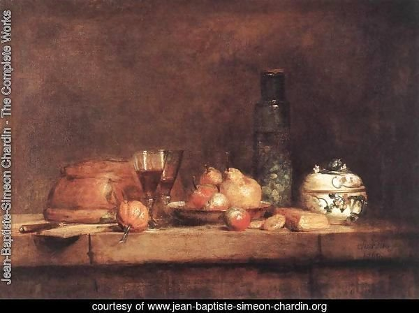 Still-Life with Jar of Olives 1760