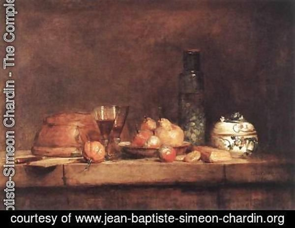 Jean-Baptiste-Simeon Chardin - Still-Life with Jar of Olives 1760