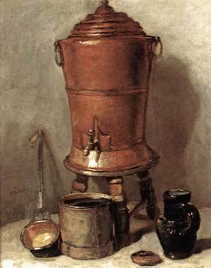 Jean-Baptiste-Simeon Chardin - The Copper Drinking Fountain c. 1734