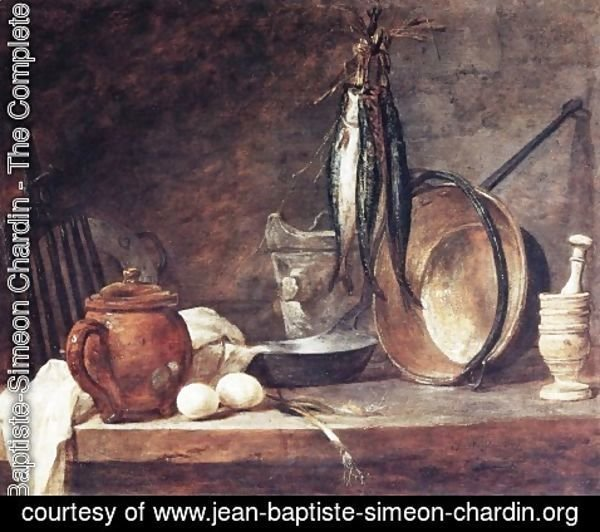 Jean-Baptiste-Simeon Chardin - The Fast Day Meal