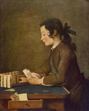 Jean-Baptiste-Simeon Chardin - The House of Cards 1737