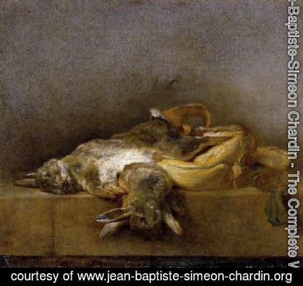 Jean-Baptiste-Simeon Chardin - Still-Life with Two Rabbits 1750-55