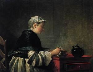Jean-Baptiste-Simeon Chardin - Woman Taking Tea 1735