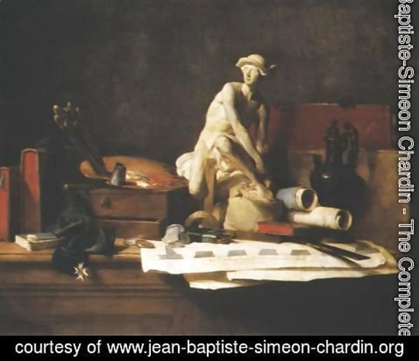 Jean-Baptiste-Simeon Chardin - Attributes and Rewards of the Arts