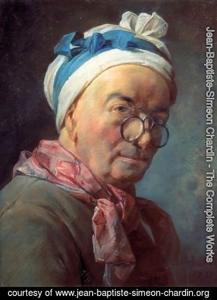 Jean-Baptiste-Simeon Chardin - Self-Portrait with Spectacles